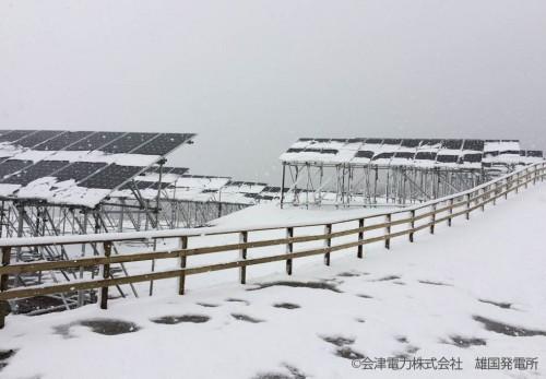 12月2日時点 雄国発電所の雪景色